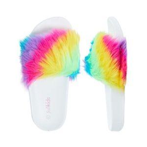 Fab Kids-Rainbow Fur Slide